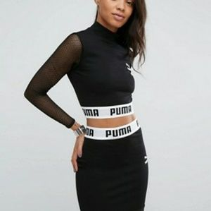 Puma Tops - Nwt Puma dress up long sleeve mesh top b04483ac2ad4a